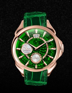PALATIAL CLASSIC MANUAL BIG DATE MINERAL CRYSTAL DIAL - ROSE GOLD CASE